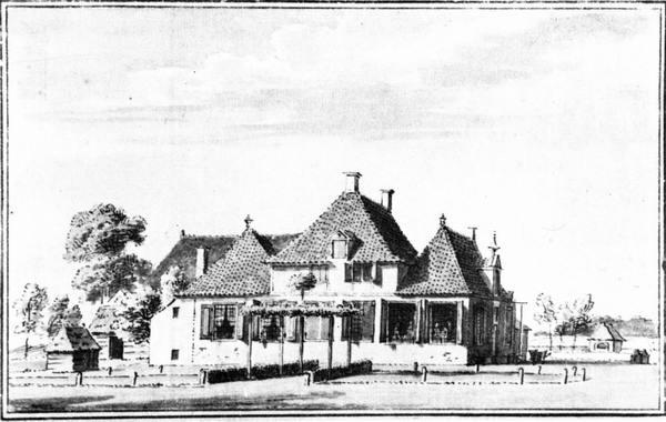 Havezate Egede (voorkant), pentekening C. Pronk, 1732